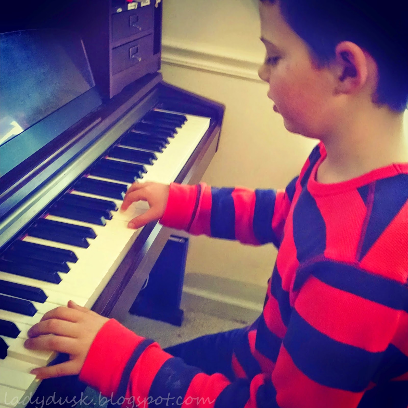 Wordless Wednesday: Messing around at the Piano