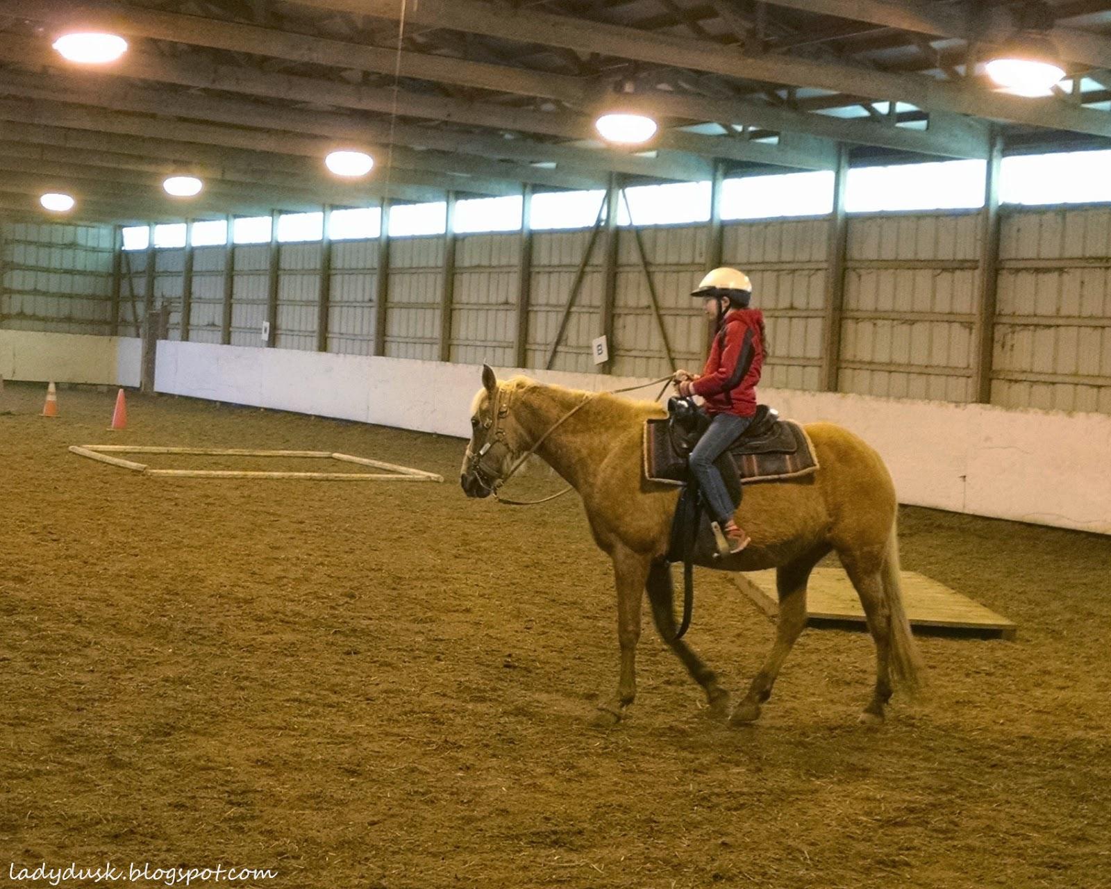 Wordless Wednesday: First Time Horseback Riding