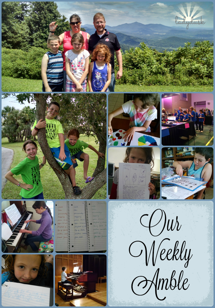 Our Weekly Amble for August 22-26, 2016