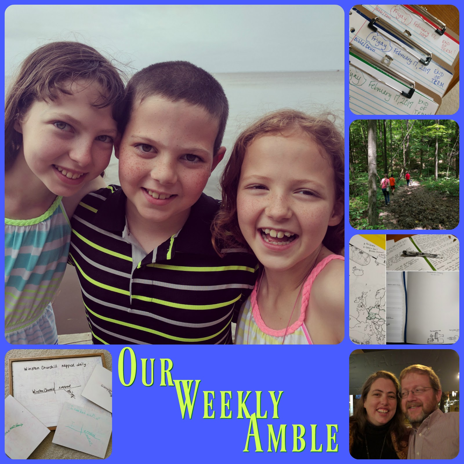 Our Weekly Amble for January 15-19, 2018